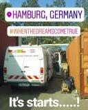 Einfuhr des Vans beim Containtertransport_Hamburg