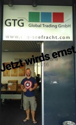 Einfuhr des Vans beim Containtertransport_GTG