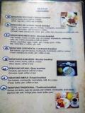 Speisekarte Bolivien